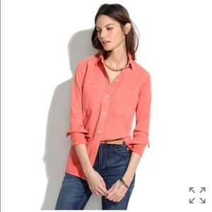 Madewell Washed Red Perfect Chambray Medium